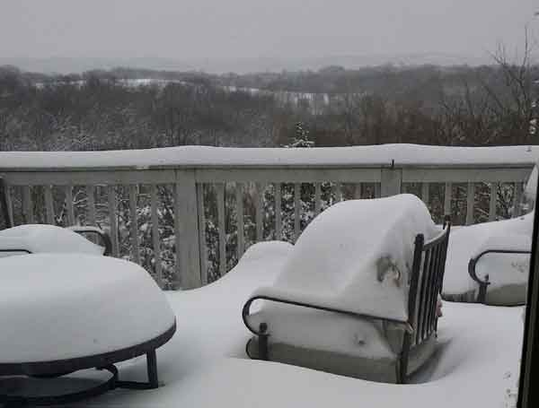 Photo of snow in Harper's Ferry. (Courtesy the Althof family)