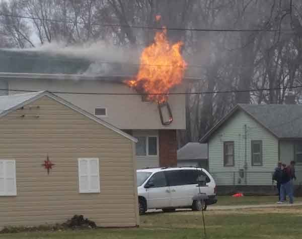 A fire that started on a bed caused significant damage to an Evansdale duplex. (Michael Crowe, KWWL)