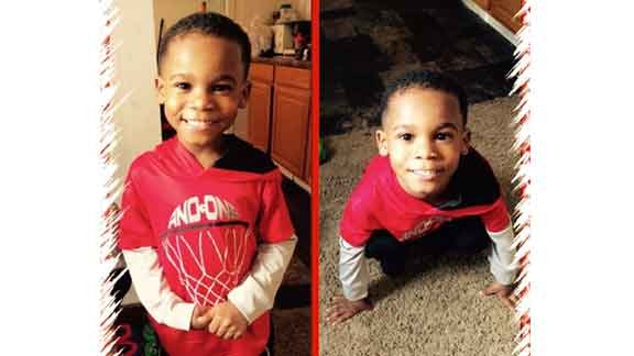 Marshon Glover, Jr., 4, before he was shot in the stomach. (Courtesy Michael Muhammad)
