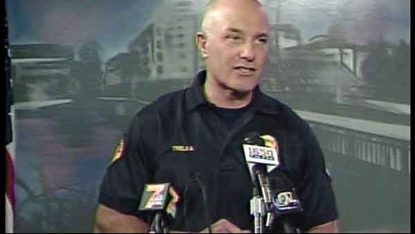 Waterloo Police Chief Dan Trelka speaks at a news conference Monday, April 27, 2015, at 11 a.m.