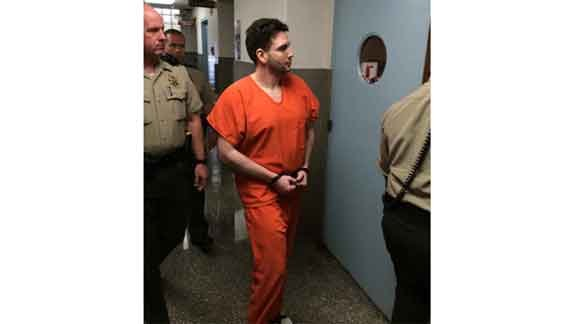 Casey Frederiksen walks into court Monday, May 11, to be sentenced. (Michael Crowe, KWWL)