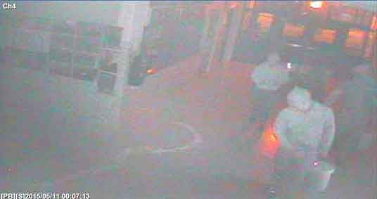 Surveillance photos taken from North Cedar High School's security camera.