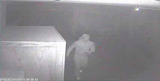 Surveillance photos taken from North Cedar High School's security camera.