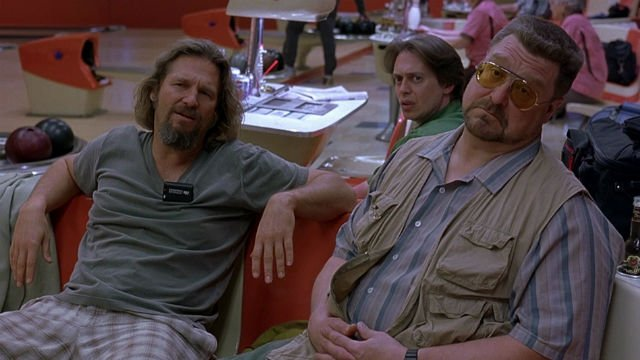 "Jeff Bridges, Steve Buscemi and John Goodman in ""The Big Lebowski"""