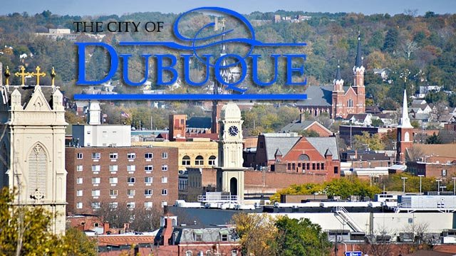 Road closure in Dubuque