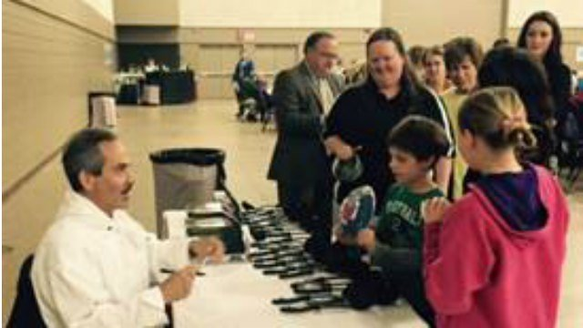 Guests at the Empty Bowls event got to meet Seinfeld's Soup Nazi