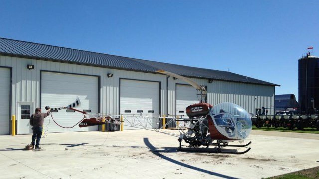 A photo from RITEL Copter Service's Facebook page shows Jeffrey Lee Graham earlier this week.