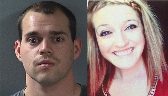 Alex Kozak, 22, charged with the murder of Andrea Farrington, 20.