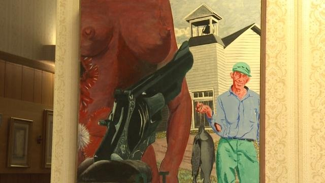 The painting that is causing controversy in Tipton.