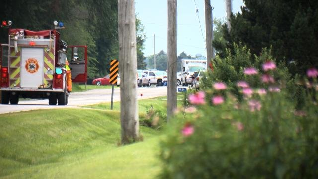 The scene on Waverly Road in Cedar Falls on Monday, July 6, 2015. (Sean O'Neal, KWWL)