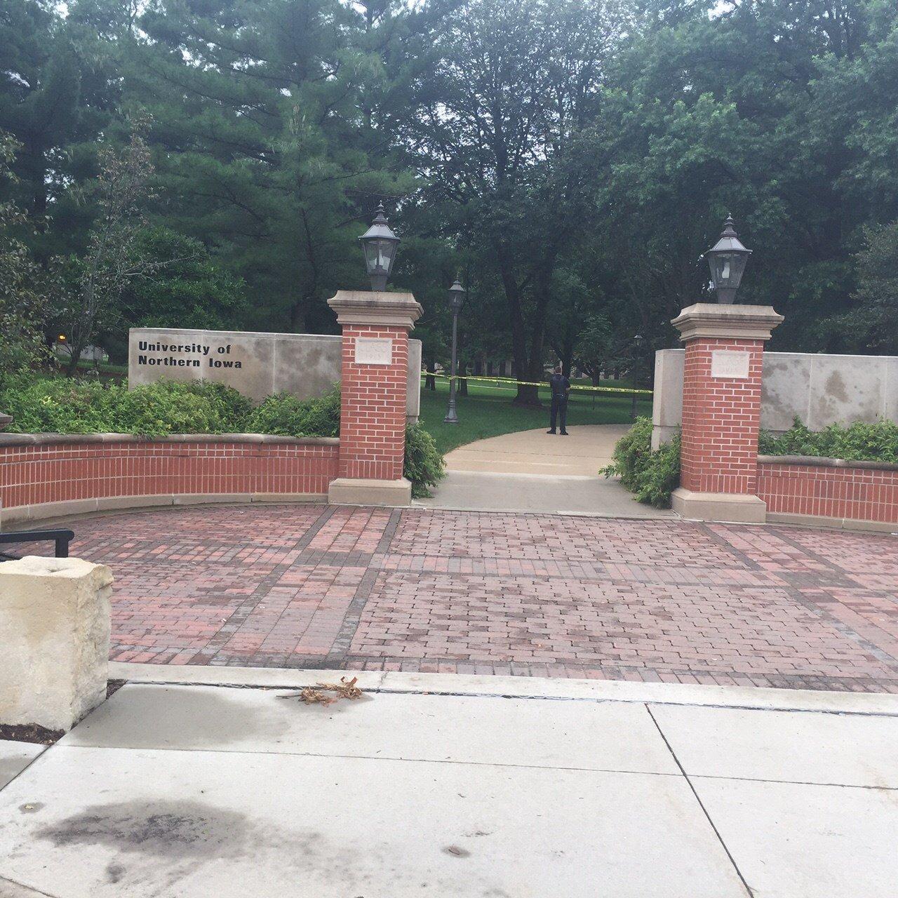 Tape blocks off part of UNI campus