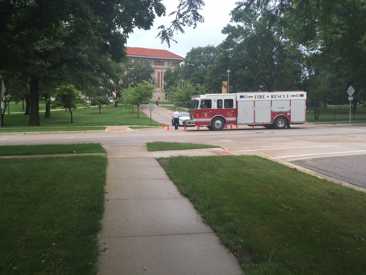 Cedar Falls Fire Dept. on UNI campus