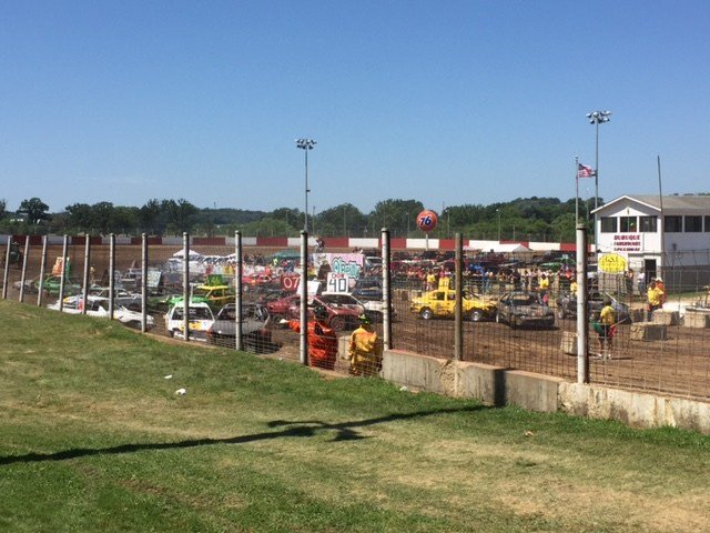 Demolition Derby at Dubuque County Fair