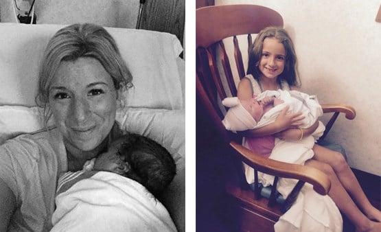 Amanda and Luciana, left, and Amanda's daughters Giana and Luciana.