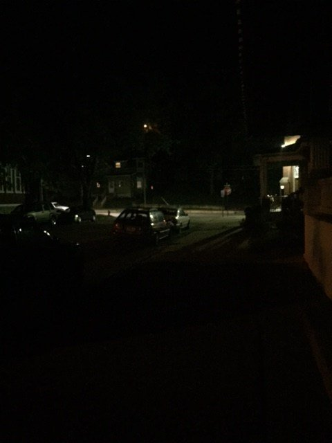 People on the block of Iowa and 16th st. say the  area is pitch dark
