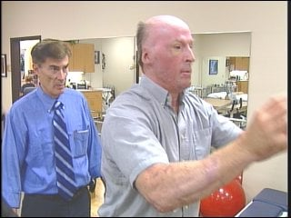 Rick Sinnwell in Physical Therapy this summer
