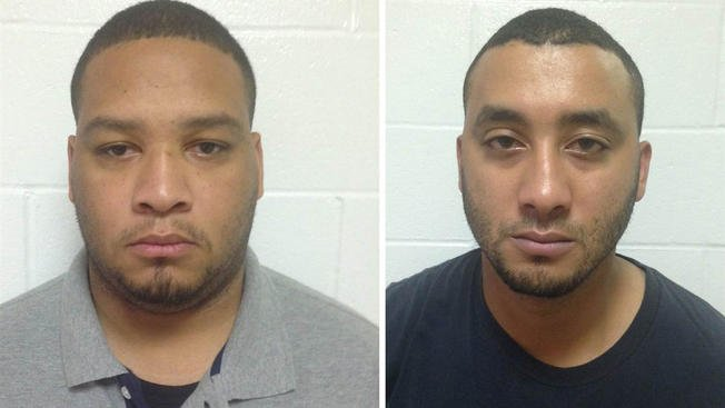 Derrick Stafford, left, and Norris Greenhouse Jr., right, accused of murder in the death of a 6-year-old boy, are seen in mug shots distributed by state police.