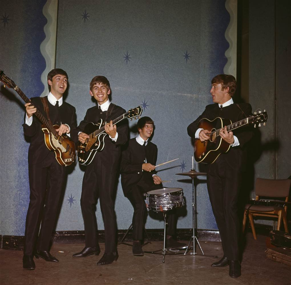 The Beatles rehearse in 1963. ?Paul Popper / Getty Images