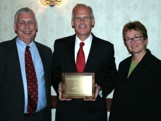Left to Right: Doug Johnson, President and CEO of Lutheran Services in Iowa, Ron Steele, and Anne Gruenewald, CEO of Iowa KidsNet.