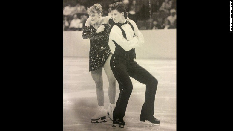 Garrett Swasey and Christine Fowler-Binder compete in the junior national championships in the early 1990s.