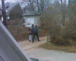 Police take two UNI football players into custody Friday morning.