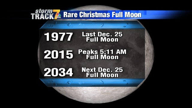 Rare full moon on Christmas Day - KWWL - Eastern Iowa Breaking ...
