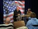 J.K. Martin on the right interviewing Fred Thompson while campaigning for President in Iowa