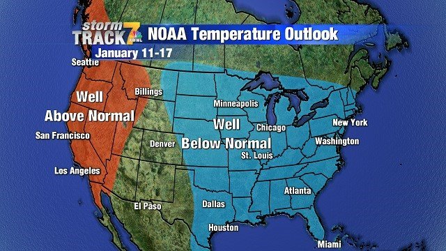 Good chance for below normal temperatures