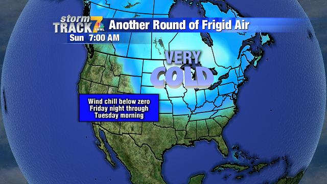 Frigid temperatures this weekend