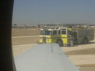 Photo Courtesy : Ed Lavandera/CNN Producer on board AE Flight 3890 after emergency landing in Dallas, TX.