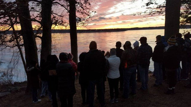 Friends and family gathered Tuesday at the sight of the accident to honor Tanner 1 year later.