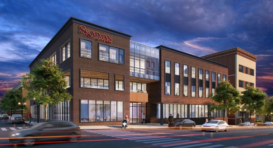 A rendering of what the Skogman headquarters will look like.