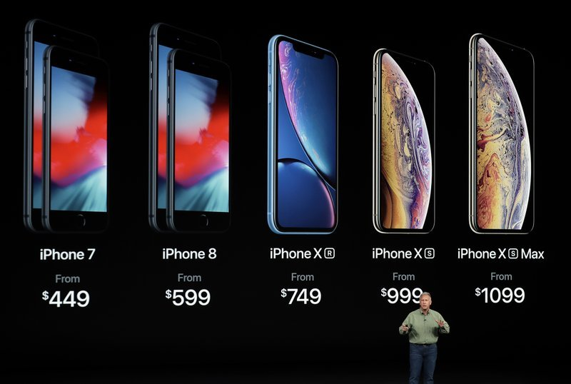 Phil Schiller, Apple's senior vice president of worldwide marketing, speaks about the new Apple iPhone XS, iPhone XS Max and the iPhone XR at the Steve Jobs Theater during an event to announce new Apple products Wednesday, Sept. 12, 2018, in Cupertino, Ca