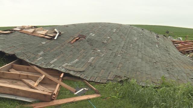 Damage on John McConnell's farm in Jones County