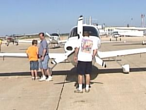 Families wandered the tarmac of the Dubuque Regional Airport Sunday morning