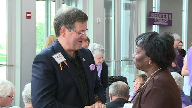 The University of Northern Iowa welcomed their new president, William Ruud, tonight at a reception on campus.