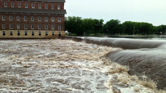 The Wapsipinicon River at Independence crested at 13.42 feet between 9 p.m. and 10 p.m. Wednesday.