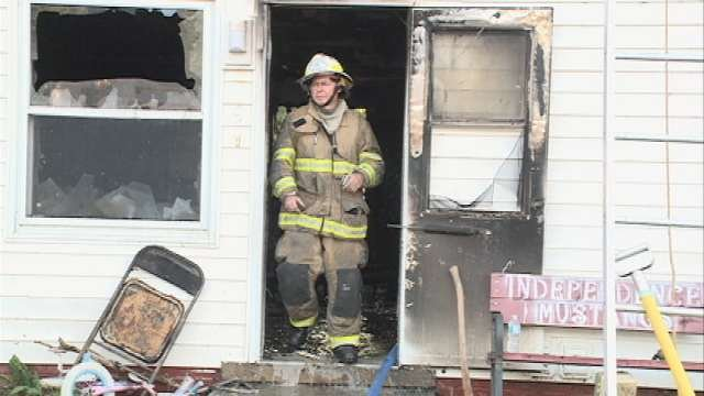 Authorities say a 7-year-old girl has died after an apartment fire in Independence Friday morning.