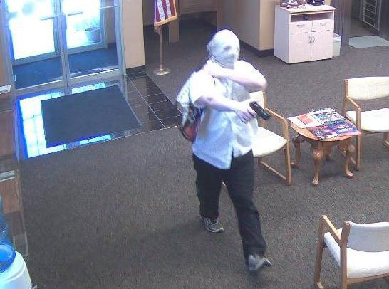Surveillance photos from the Guaranty Bank robbery Wednesday. Courtesy: Cedar Rapids Police Department