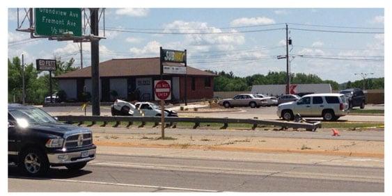 Crews on the scene of a county vehicle crash on Hwy. 20 on Wednesday. (Becca Habegger, KWWL)