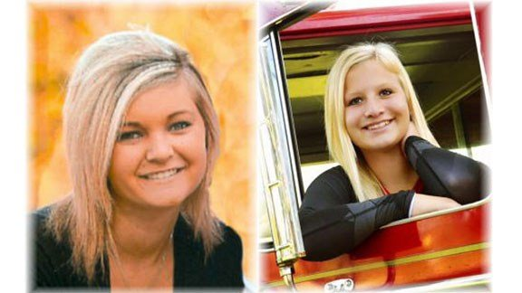 Bailey Jacobsen, 16, and Lindsey Quirk, 16, both of Wall Lake
