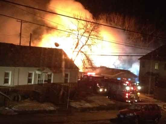 A fire destroyed a home in Epworth on Tuesday morning. (Courtesy KWWL viewer Patti McDermott)