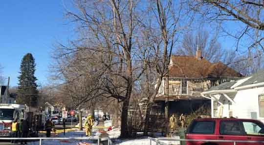 A fire in Cedar Falls started in the porch Wednesday, Feb. 24. (Michael Crowe, KWWL)
